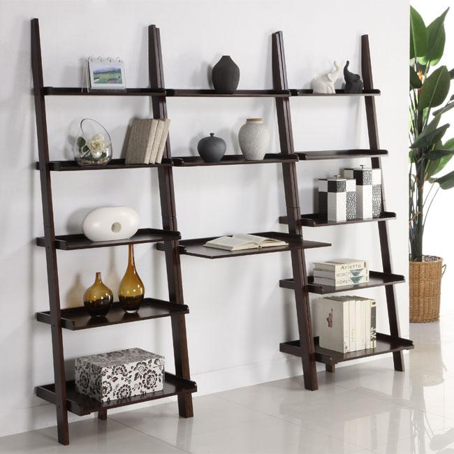 Shop Cappuccino 3 Piece Leaning Ladder Shelf With Laptop