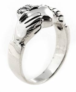Journee Collection Sterling Silver Celtic Claddagh Ring