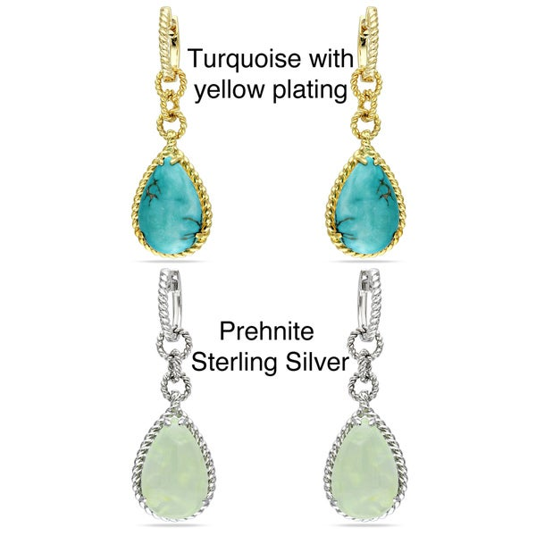 Miadora Sterling Silver Gemstone Earrings
