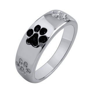 Tender Voices Sterling Silver 1/10ctTW Diamond Paw Ring