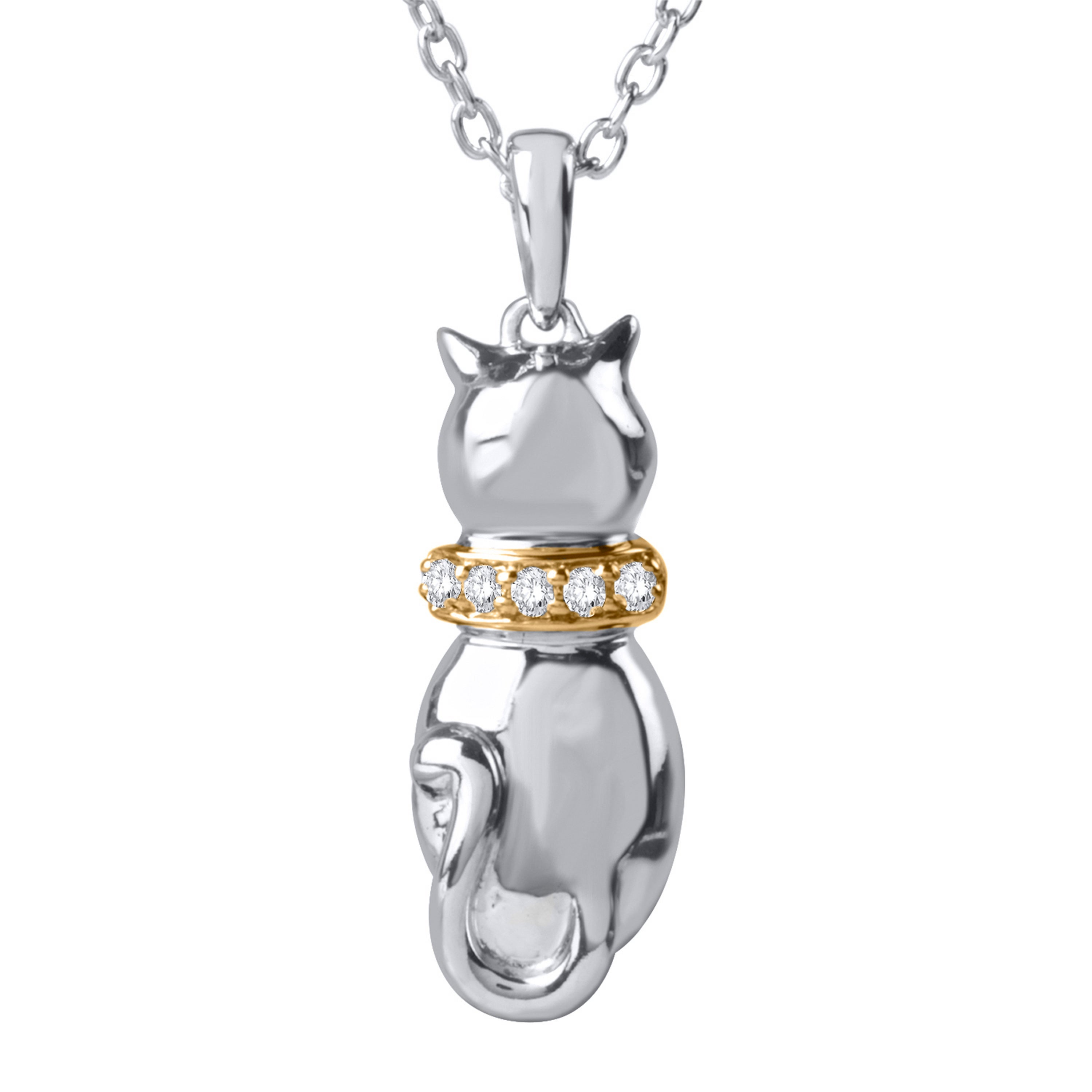 ASPCA Tender Voices Sterling Silver and 10k Yellow Plate ...