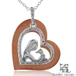 ASPCA Tender Voices Silver/ Gold 1/10ct TDW Diamond Necklace (I-J, I2-I3)