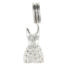 Sterling Silver Fashion Dress Charm Bead