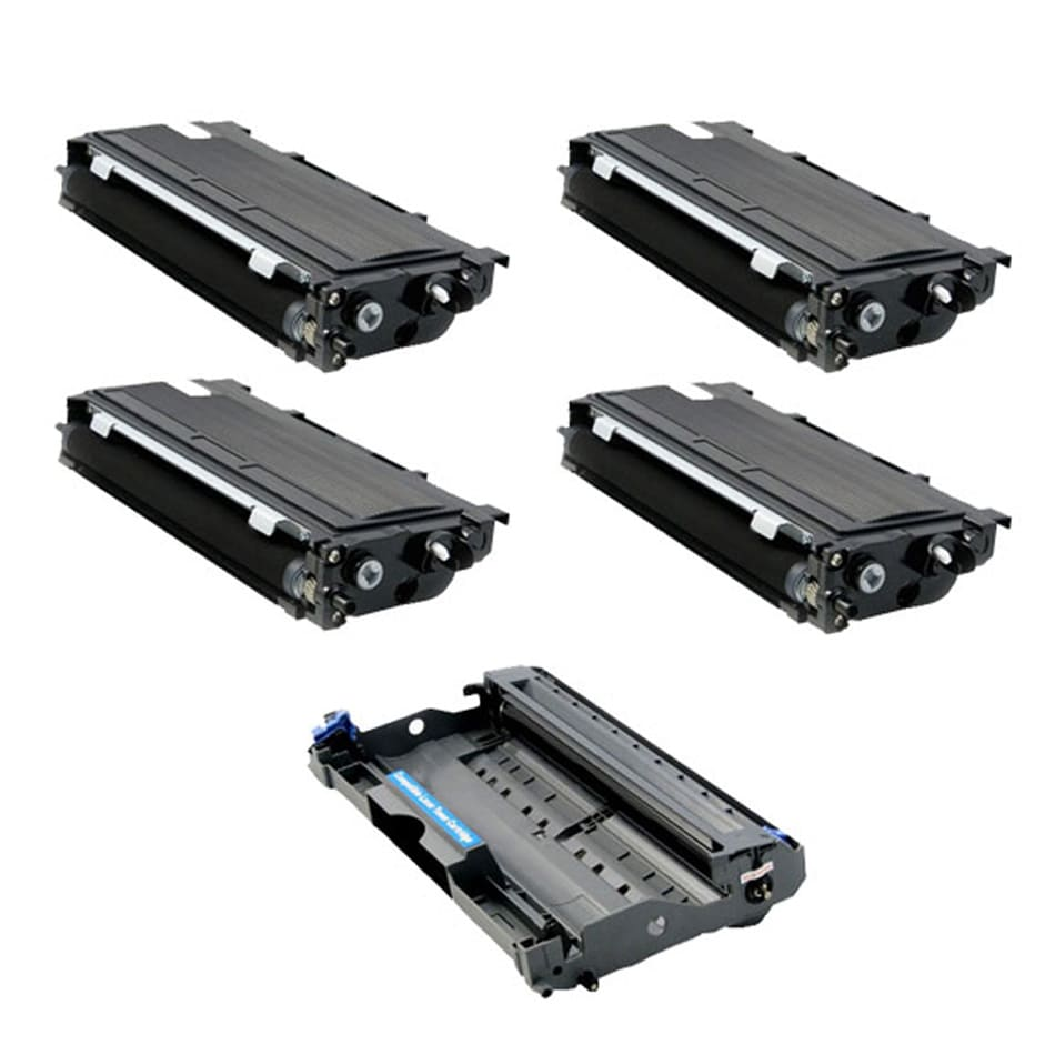 Brother Compatible TN350,1 DR350 Drum Unit (Pack of 4)