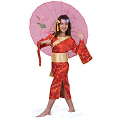Dress Up America Girls' 'Japanese Girl' Costume