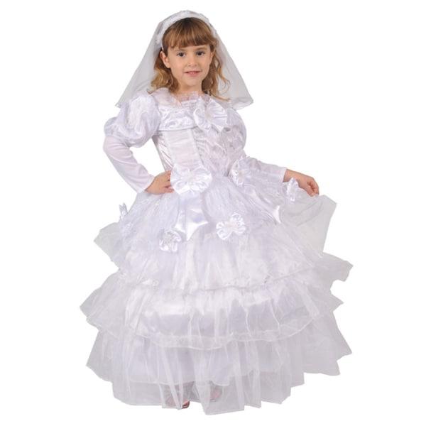 Dress Up America Girls' 'Exquisite Bride' Costume