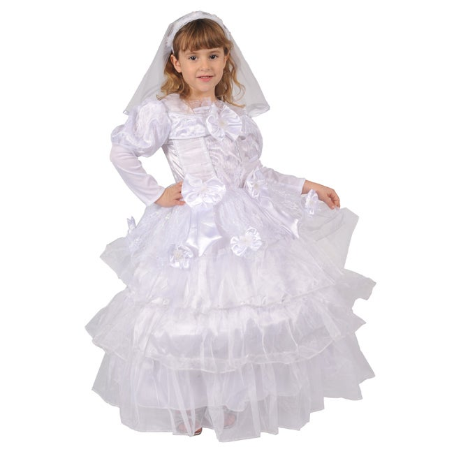 Dress Up America Girls' 'Exquisite Bride' Costume (Large ...
