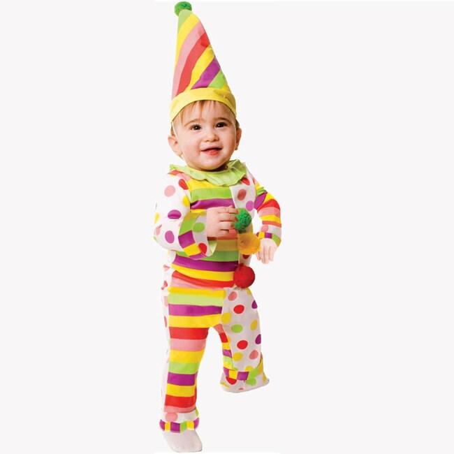 Dress Up America Baby 'Dots n' Stripes Clown' Costume