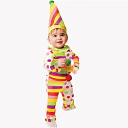Dress Up America Baby 'Dots n' Stripes Clown' Costume - Multi
