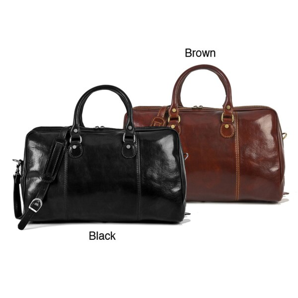 Alberto Bellucci Perugia Italian Leather Duffel Bag