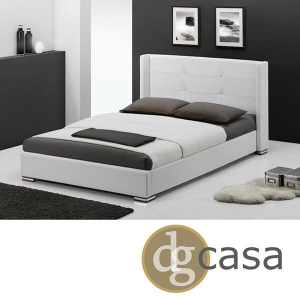 Shop Dg Casa White King Size Braden Bed Free Shipping Today