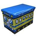 Cute Children's Blue Folding Storage Ottoman (Small Size)