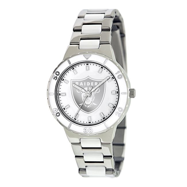 Game Time Women's Oakland Raiders Logo Pearl Watch