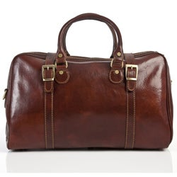 Alberto Bellucci Milano Leather Travel Duffle Bag Made in Italy