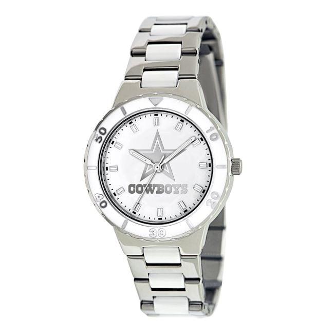 Game Time Women's Dallas Cowboys Logo Pearl Watch
