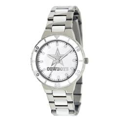 Game Time Women's Dallas Cowboys Logo Pearl Watch