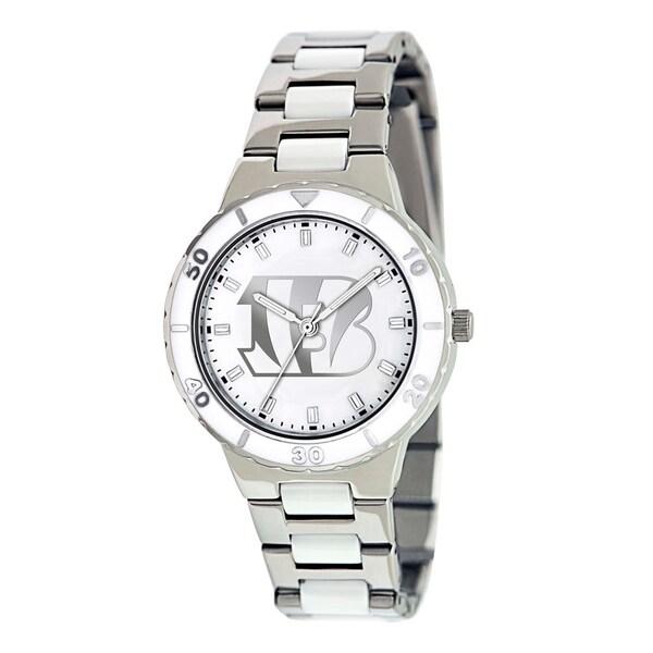 Game Time Women's Cincinnati Bengals Logo Pearl Watch