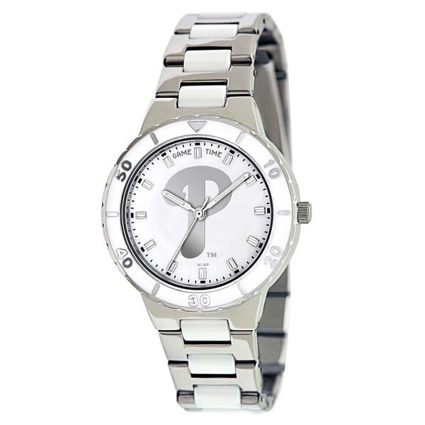 Game Time Women's Philadelphia Phillies Logo Pearl Watch