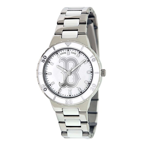 Game Time Women's Boston Red Sox Logo Pearl Watch
