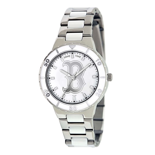 Shop Game Time Women s Boston Red Sox Logo Pearl Watch - Free Shipping  Today - Overstock - 6910820 75c83410d3