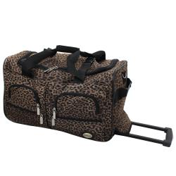 Rockland Deluxe Leopard Perfect Combination 3-piece Expandable Luggage Set