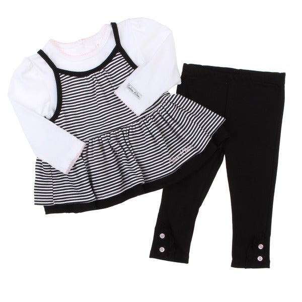 Calvin Klein Girl's Black/ White 3-piece Set FINAL SALE