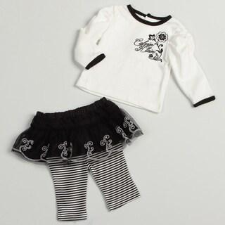 Calvin Klein Newborn Girl's 2-piece Legging Set
