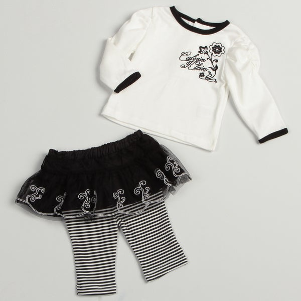 Calvin Klein Newborn Girl's 2-piece Legging Set