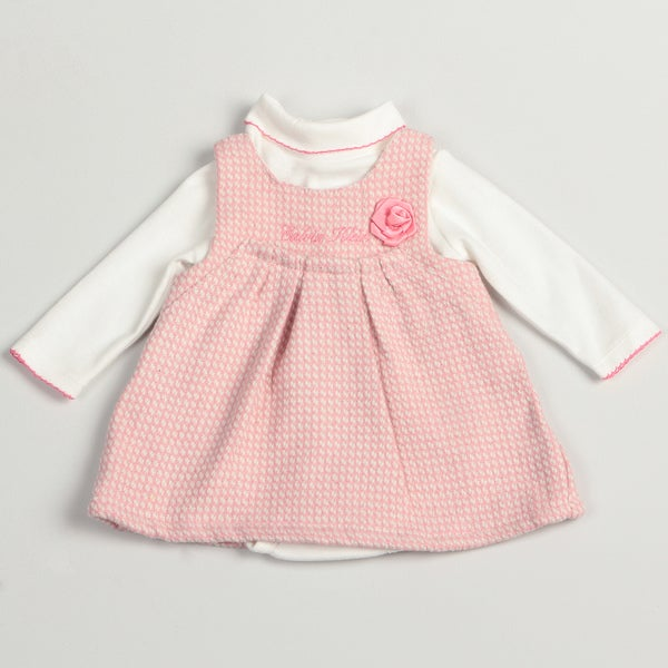 Calvin Klein Girl's Newborn White/ Pink Two-piece Set