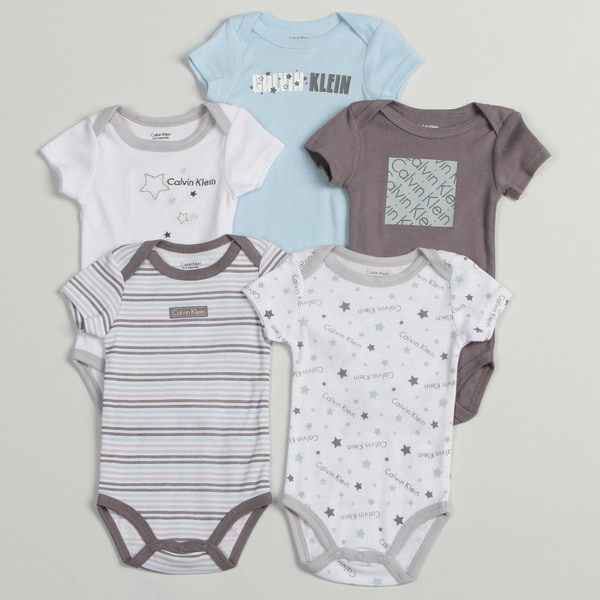 Calvin Klein Newborn Boy Assorted Bodysuits (Pack of 5)