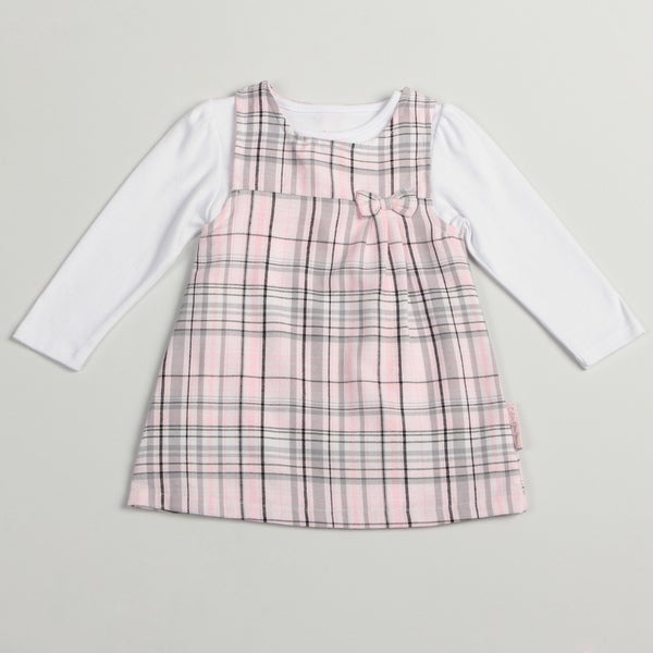 Calvin Klein Toddler Girls Pink/ Grey 2-piece Jumper
