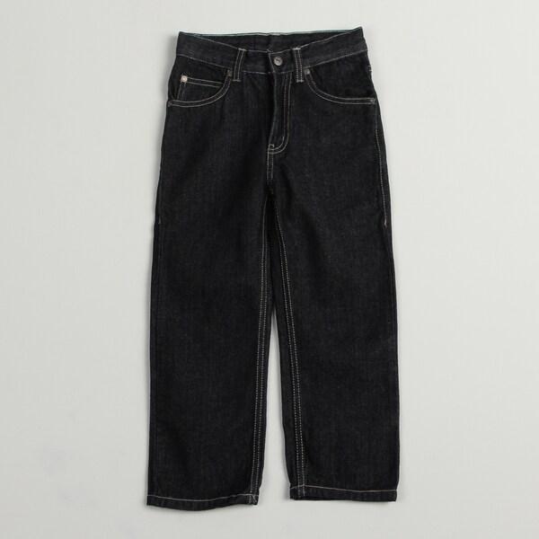US Polo Boy's Blue Dark Wash 5-pocket Jeans FINAL SALE