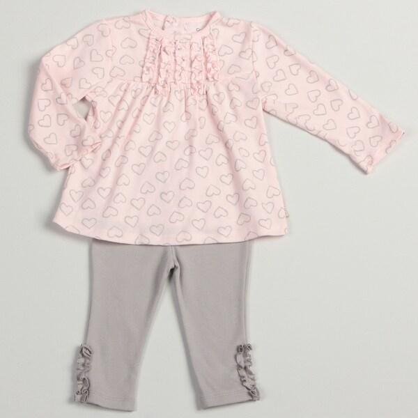 Calvin Klein Infant Girls Pink/ Grey Legging Set
