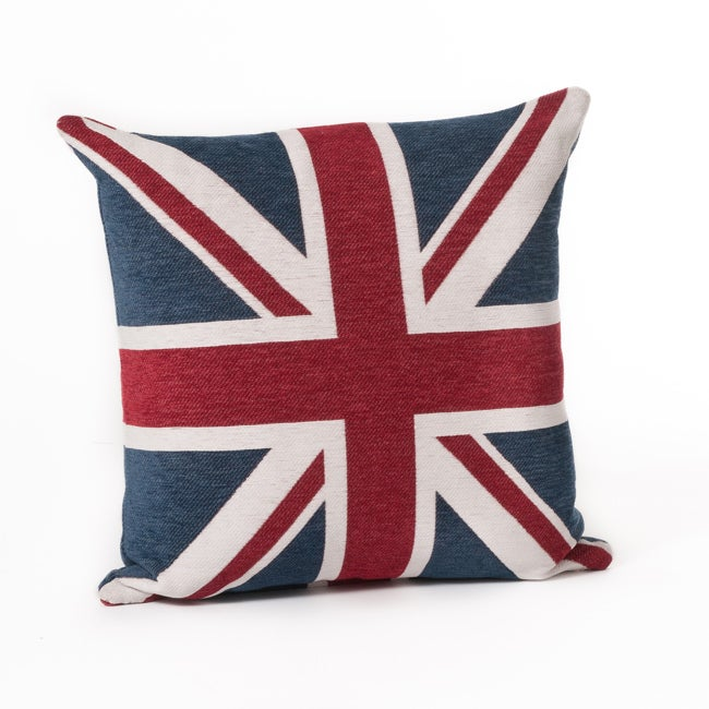 Union Jack 24-Inch Square Throw Pillow - Thumbnail 0