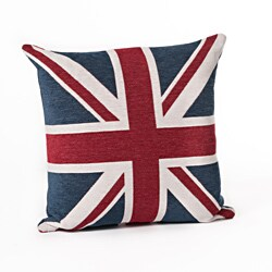 Union Jack 24-Inch Square Throw Pillow