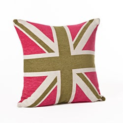 Union Jack 24-inch Throw Pillow