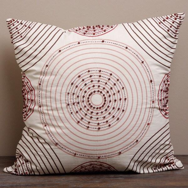 Art Nouveau Beaded Cushion Cover (India)
