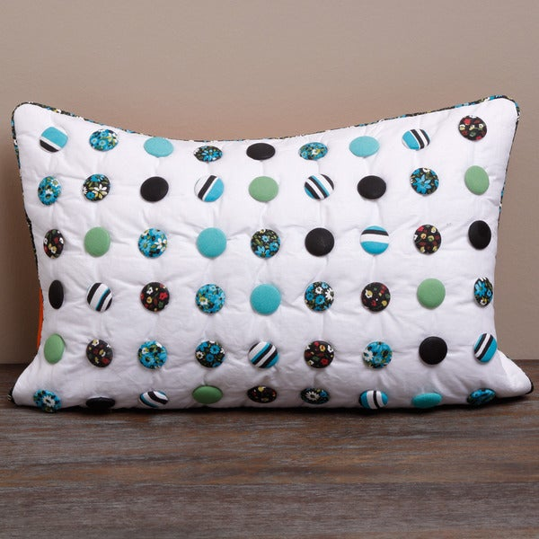 Polka Dot Pillow Cover  , Handmade in India