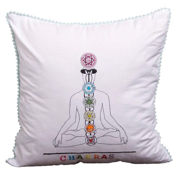 Spiritual Journey Chakras Cushion Cover  , Handmade in India