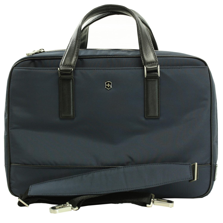 Victorinox Swiss Army Luxor Slimline Navy Briefcase Laptop Tote