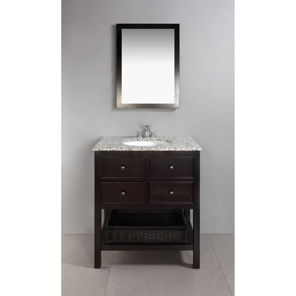 Wyndenhall new haven espresso brown 2 drawer 30 inch bath for Bathroom 30 inch vanity