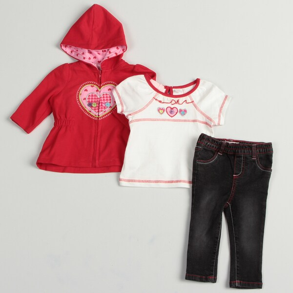 Kids Headquarters Infant Girls 3-piece Set