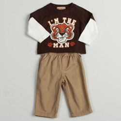 Kids Headquarters Infant Boys Tiger Print 2-piece Set FINAL SALE