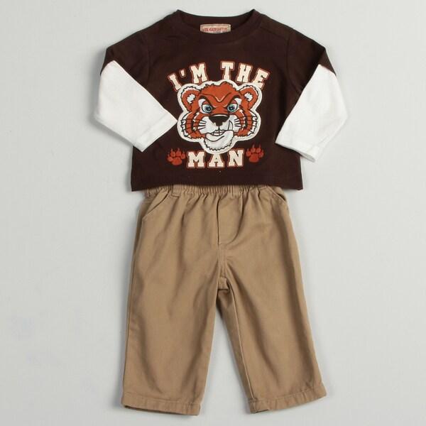 Kids Headquarters Infant Boys Tiger Print 2-piece Set FINAL SALE