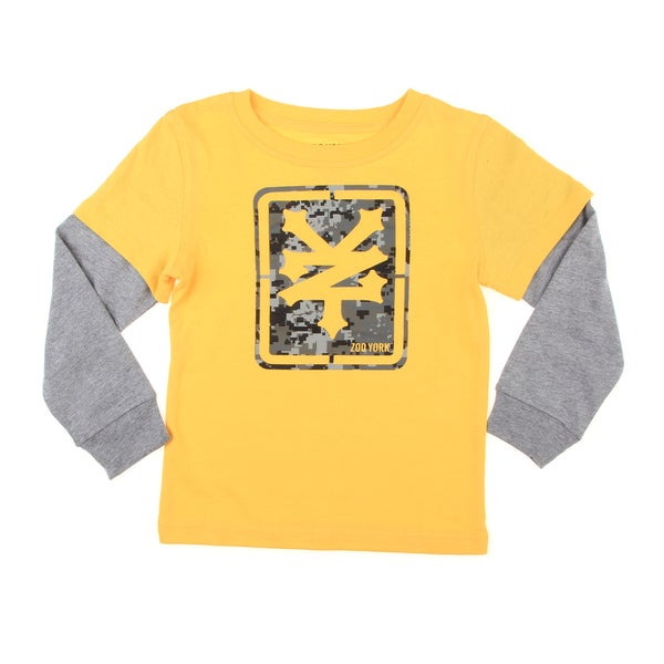 Zoo York Boy's Yellow/ Grey Graphic Print Tee