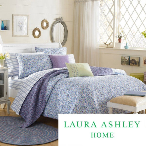 Laura Ashley Marabel Full/Queen-size Quilt Set