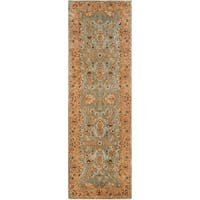 "Safavieh Handmade Traditional Persian Legend Blue/ Gold Wool Rug - 2'6"" x 10'"