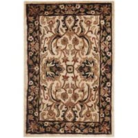 Safavieh Handmade Persian Legend Ivory/ Black Wool Rug - 2' x 3'
