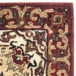 Safavieh Handmade Persian Legend Red/ Ivory Wool Rug (2' x 3')