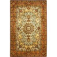 Safavieh Handmade Persian Legend Oriental Ivory/Rust Wool Rug - 4' x 6'